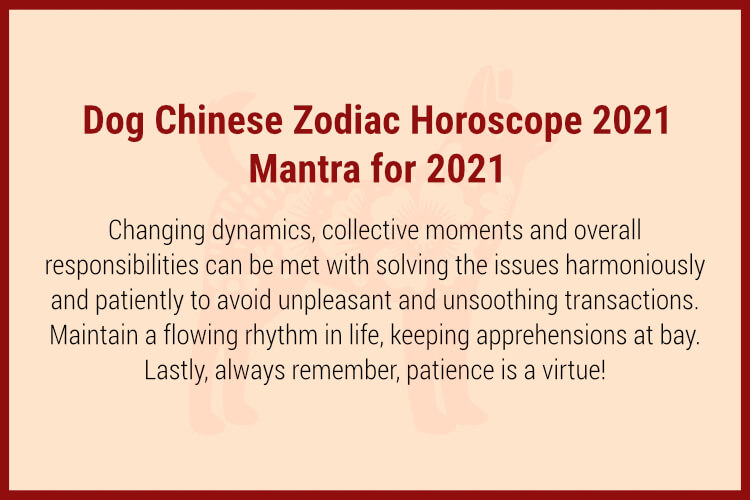 Dog chinese horoscope 2021 Mantra