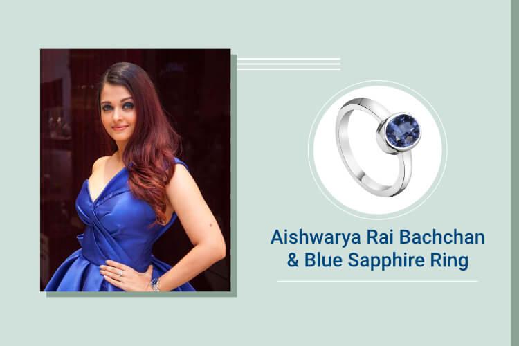 Aishwarya Rai Bachchan Blue Sapphire (Neelam)