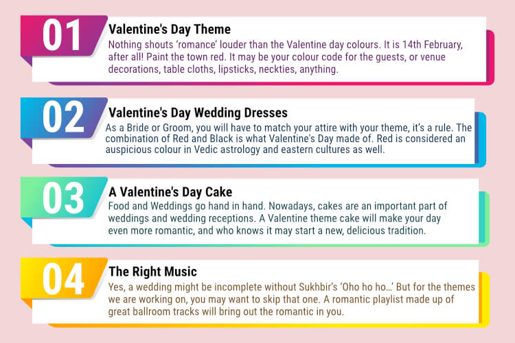4 Ways to Have a Romantic Valentine's Day Wedding