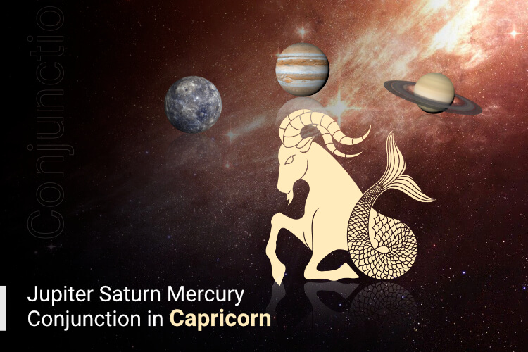 Jupiter Saturn Mercury Conjunction in Capricorn