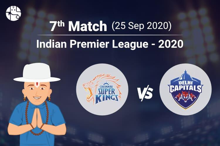 CSK vs DC 2020 IPL Match Prediction