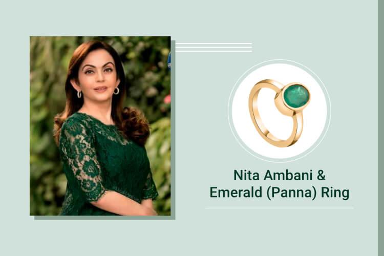Nita Ambani- Emerald (Panna)
