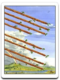 8 Eight of wands