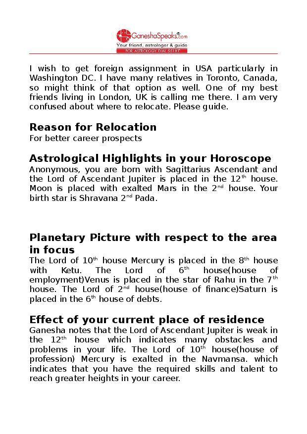 Relocation Report - GaneshaSpeaks Team