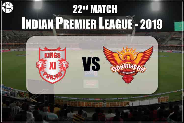 KXIP vs SRH  2019 IPL 22nd Match Prediction