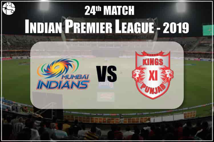 MI Vs KXIP IPL 24th Match Prediction