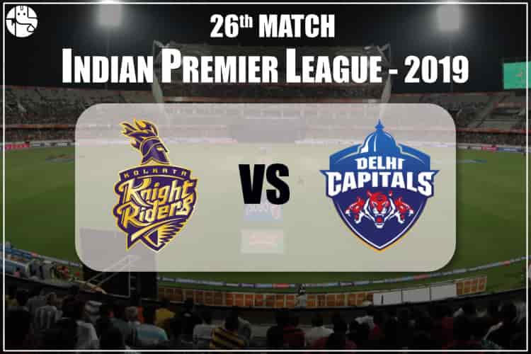 KKR Vs DC IPL 26th Match Prediction