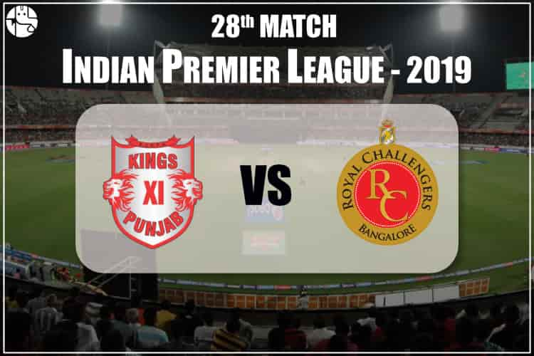 KXIP Vs RCB IPL 28th Match Prediction