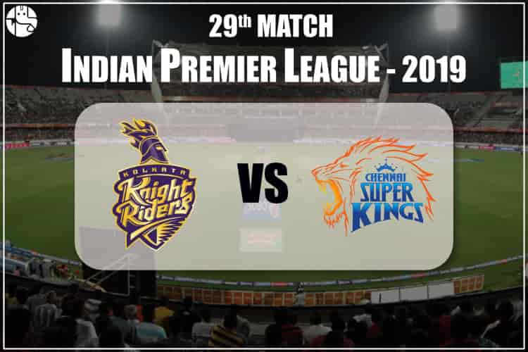 KKR Vs CSK IPL 29th Match Prediction
