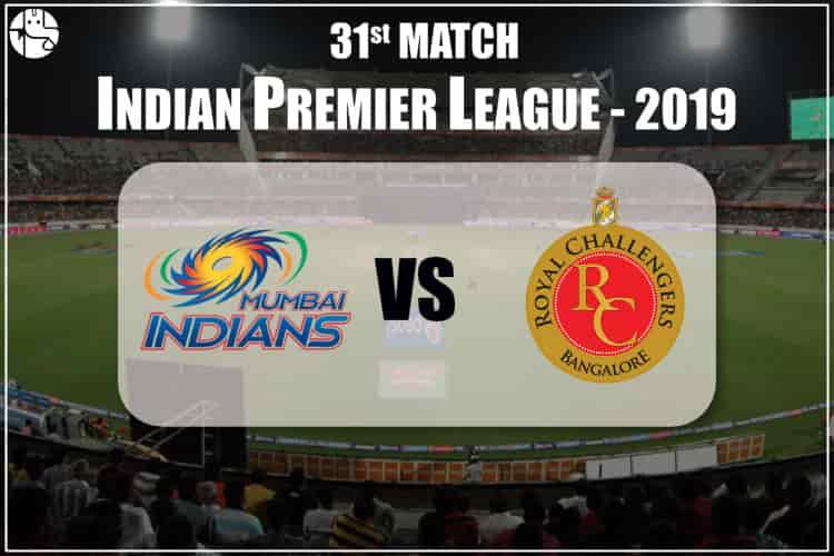 MI vs RCB IPL 31st Match Prediction