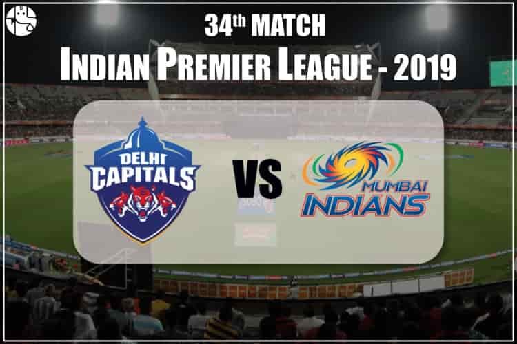 DC VS MI IPL 34th Match Prediction