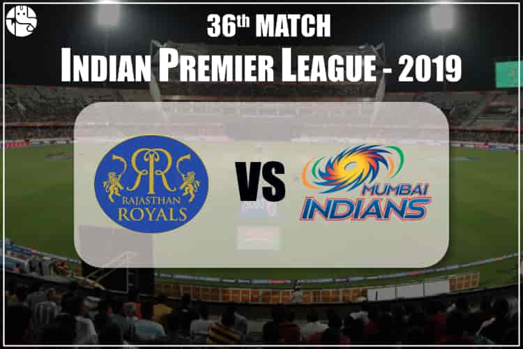 RR VS MI IPL 36th Match Prediction