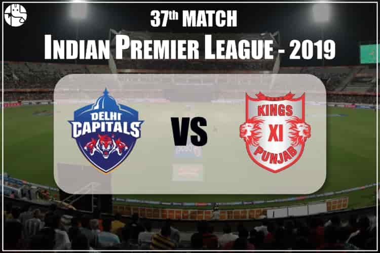 DC vs KXIP IPL 37th Match Prediction