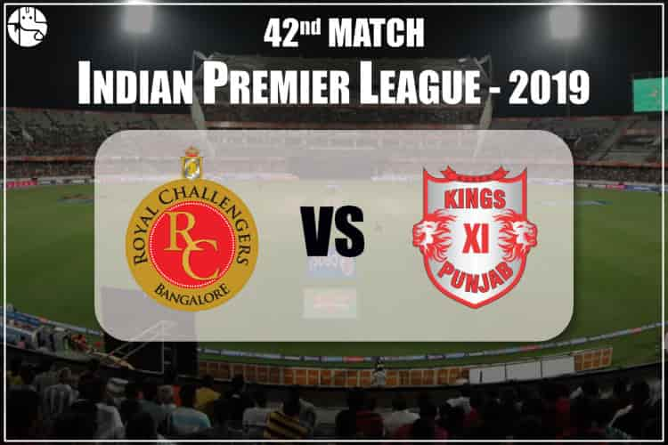 RCB vs KXIP IPL 42nd Match Prediction