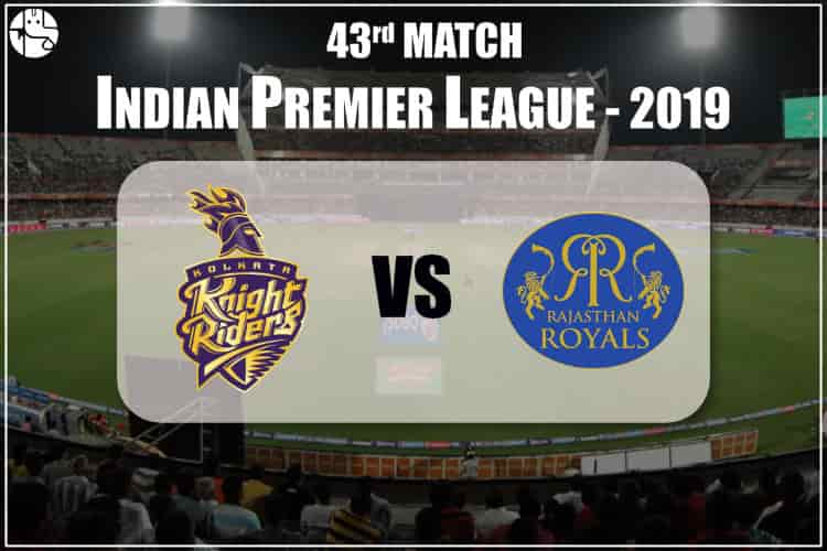 KKR vs RR IPL 43rd Match Prediction