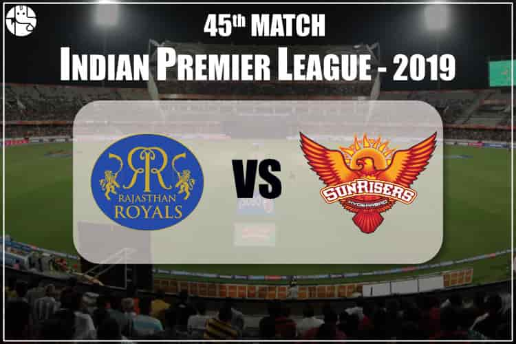 RR vs SRH IPL 45th Match Prediction
