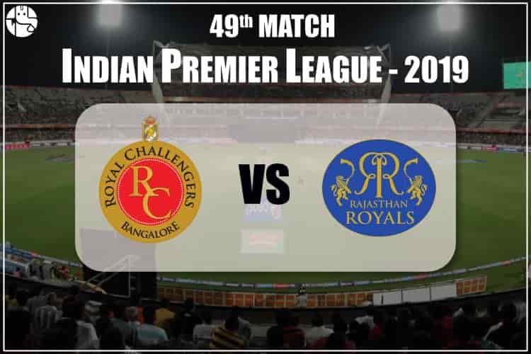 RCB vs RR IPL 49th Match Prediction