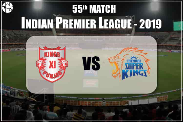 CSK vs KXIP IPL 55th Match Prediction