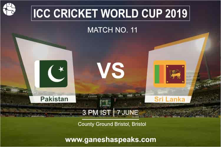 Pakistan Vs Sri Lanka, 2019 ICC Cricket world cup Prediction
