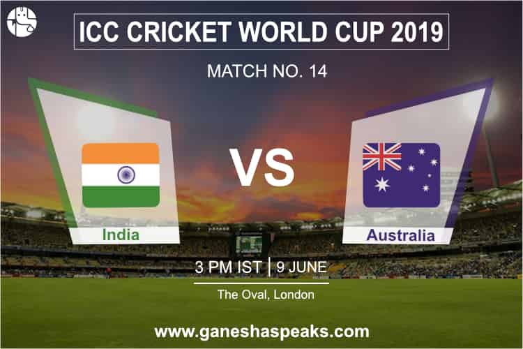 India Vs Australia, 2019 ICC Cricket world cup Prediction