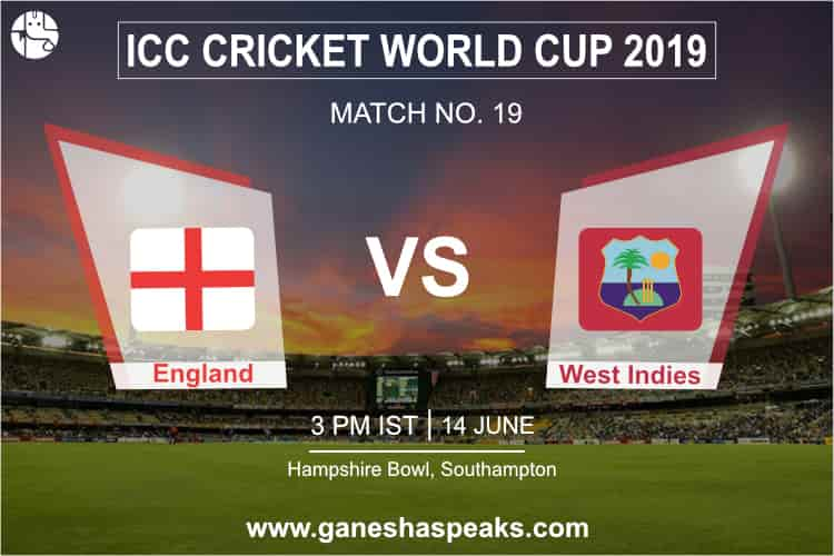 England vs West Indies Match Prediction