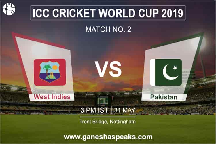 West Indies vs Pakistan, 2019 ICC Cricket world cup Prediction