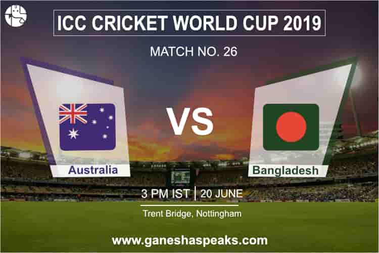 Australia vs Bangladesh Match Prediction