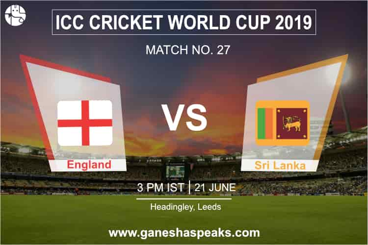 England vs Sri Lanka Match Prediction