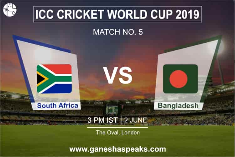 South Africa vs Bangladesh 2019 World Cup Match Prediction