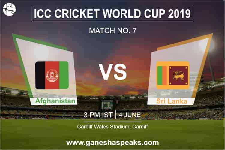 Afghanistan vs Sri Lanka, 2019 ICC Cricket world cup Prediction
