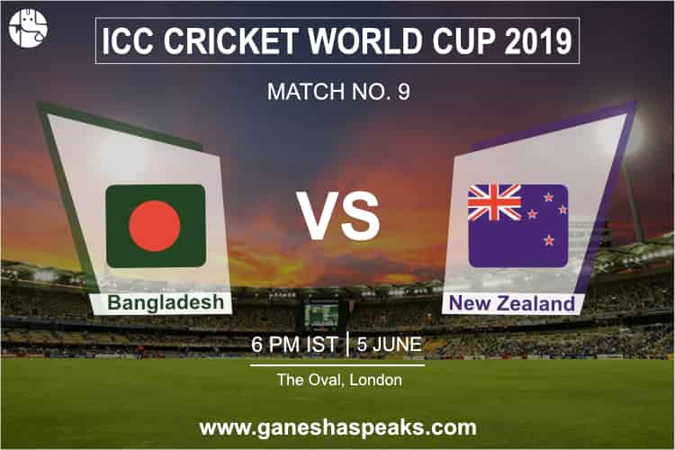Bangladesh vs New Zealand, 2019 ICC Cricket world cup Prediction
