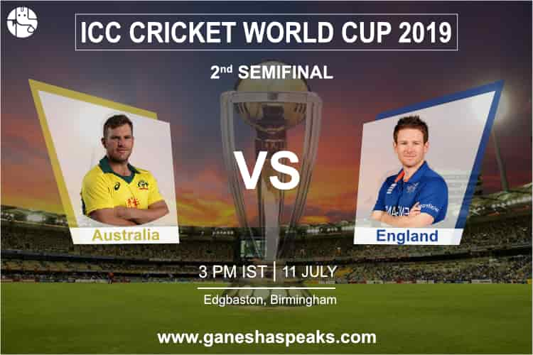 Australia vs England - Semi Final Match Prediction