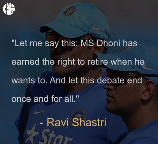 Dhoni retirement plans