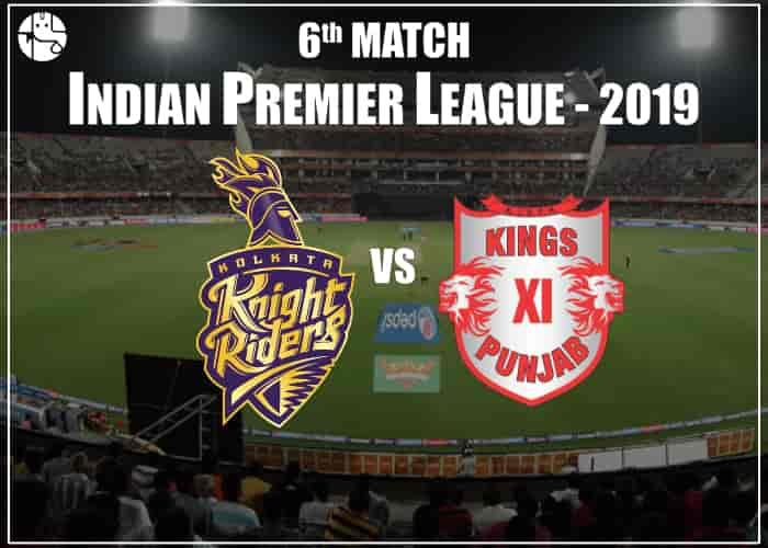 KKR Vs KXIP 2019 IPL Match Prediction