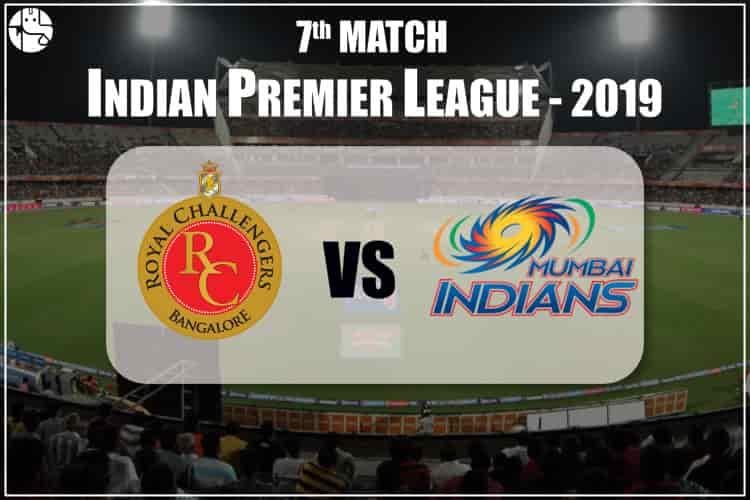 RCB Vs MI 2019 IPL Match Prediction