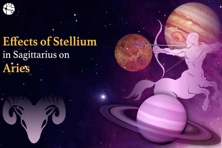 sagittarius stellium effect on aries