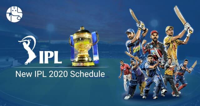 IPL 2020 Matches Schedule