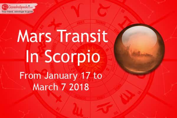 mars transit in scorpio vedic astrology