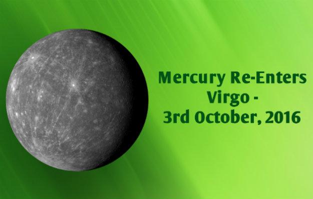 Mercury Re-enters Virgo