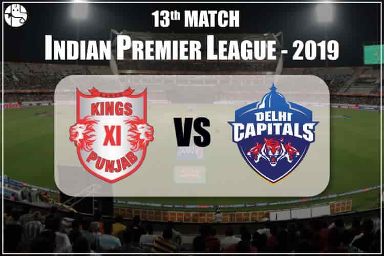 KXIP Vs DC 2019 IPL 13th Match Prediction