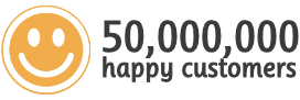 50,000,000 Happy Customers in 180+ Countries