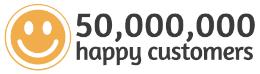 50,000,000 Happy Customers