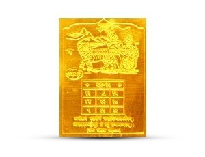Rahu Yantra Golden Plated