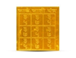 Sade Saati Yantra Golden Plated