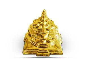 Meru Prushth Shree Yantra - Golden Plated