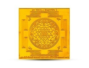 Shree Yantra Golden Plated